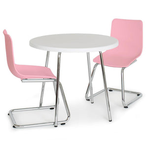 Kids' Round Table and Chairs Set - Pink