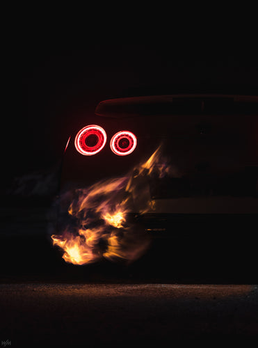 Print - Yellow Flame GTR