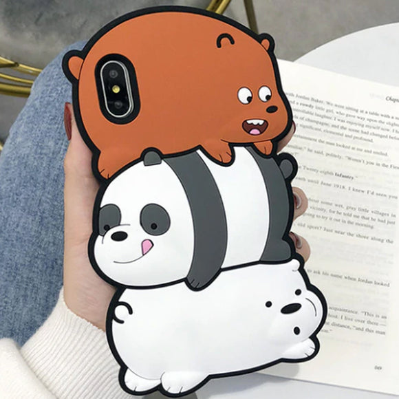 Bear Stack iPhone Case Cover Soft Silicone - Slime Kitty