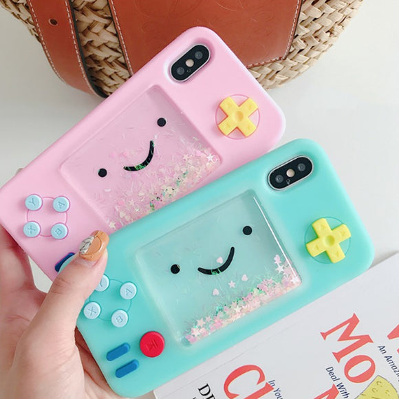 Gaming Liquid Glitter iPhone Case Cover - Slime Kitty