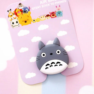 Gray Bunny Finger Grip Stand for Phones - Slime Kitty