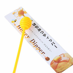 Plastic Honey Dipper - Yellow/White Slime Supplies - Slime Kitty