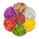 Assorted Fruit Slices 90g Wheel - Fruit Slices / Fimo Polymer Clay - Slime Kitty