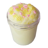 Frozen Lemonade Scented Slime Slushy Cloud Handmade w/Fruit Fimo Slices & Sprinkles - Slime Kitty