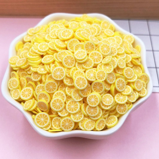 50g Lemon Slices - Fruit Slices / Fimo Polymer Clay - Slime Kitty