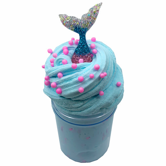 Mermaid Fluffy Butter Scented Slime - Slime Kitty