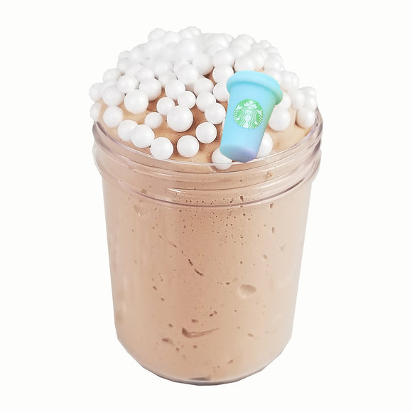 Mocha Frappuccino Fluffy Butter Scented Slime - Slime Kitty