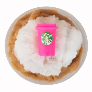 Mocha Frapp Frozen Ice Cloud Scented Slime - Handmade w/ Charm - Slime Kitty