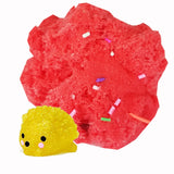 Mochi Surprise Frozen Icee Cloud Scented Fruit Punch Slime - Handmade w/ Sprinkles & 1 Mochi Squishy - Slime Kitty