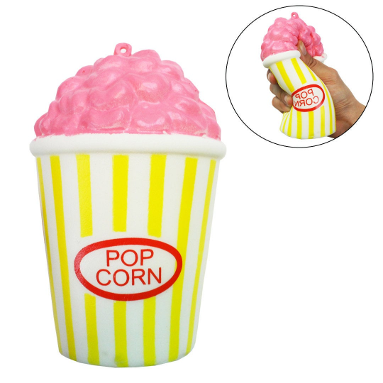 Pink Popcorn Squishy Slow Rising Scented - Slime Kitty
