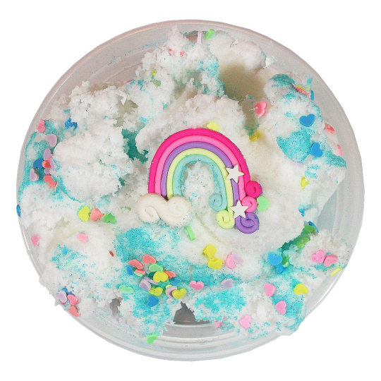 Rainbow Cloud Pina Colada Scented- Slime - Slime Kitty