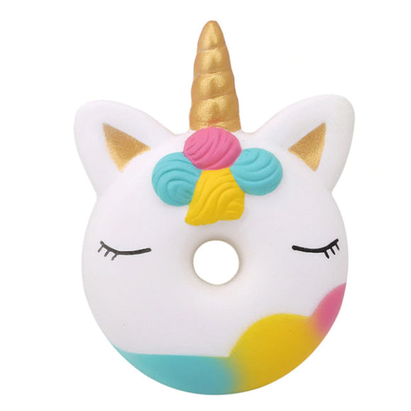 Unicorn Donut Jumbo Slow Rising Squishy Toys Squishies Scented - Slime Kitty