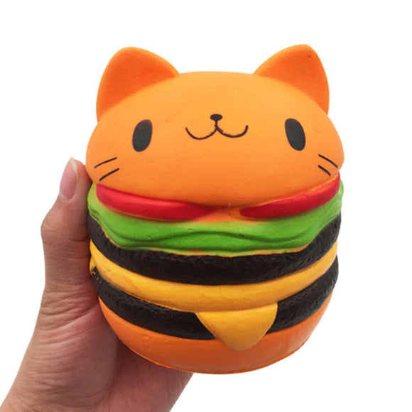 Kitty Burger Jumbo Slow Rising Squishy Toys Squishies Scented - Slime Kitty