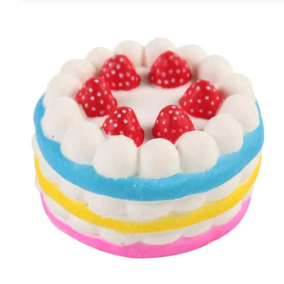 Strawberry Cake Jumbo Slow Rising Squishy Toys Squishies Scented - Slime Kitty