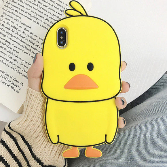 Yellow Duckie iPhone Case Cover Soft Silicone - Slime Kitty
