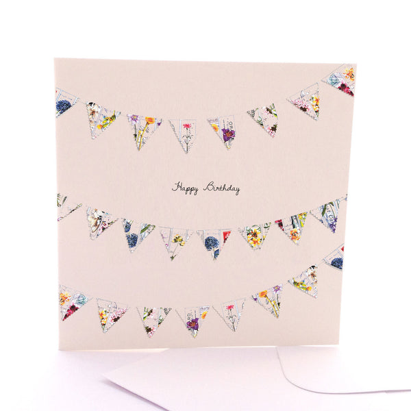 Happy Birthday Bunting Card Large