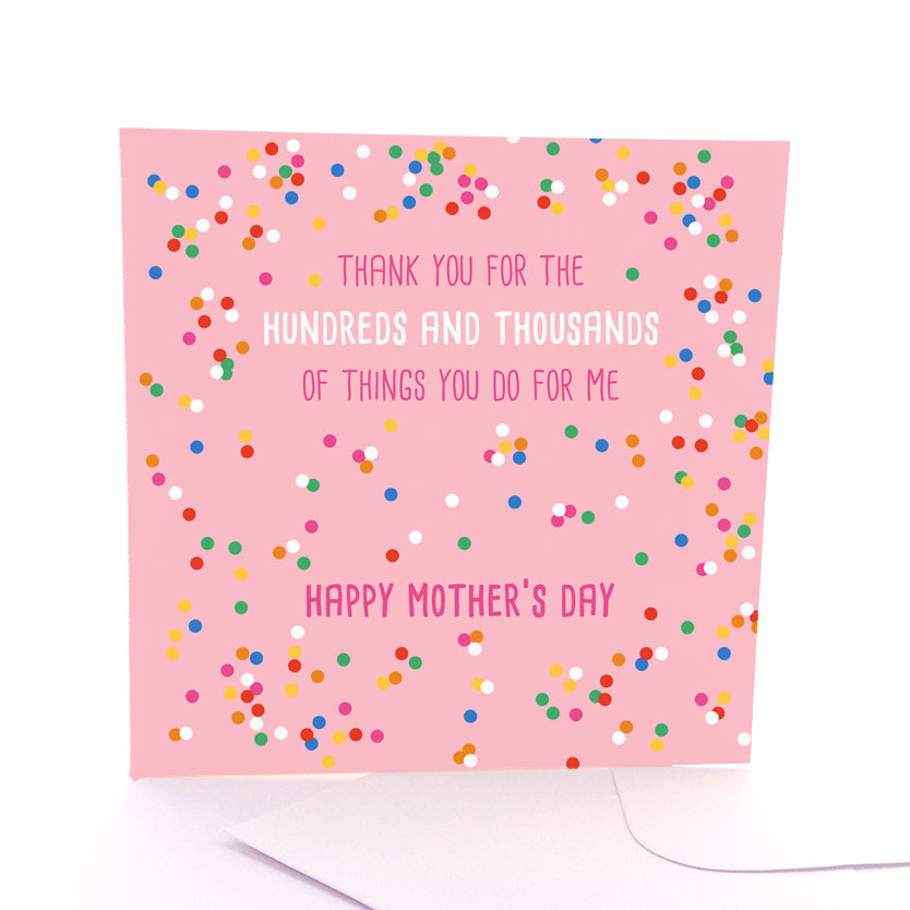 Hundreds And Thousands Mothers Day Card Large