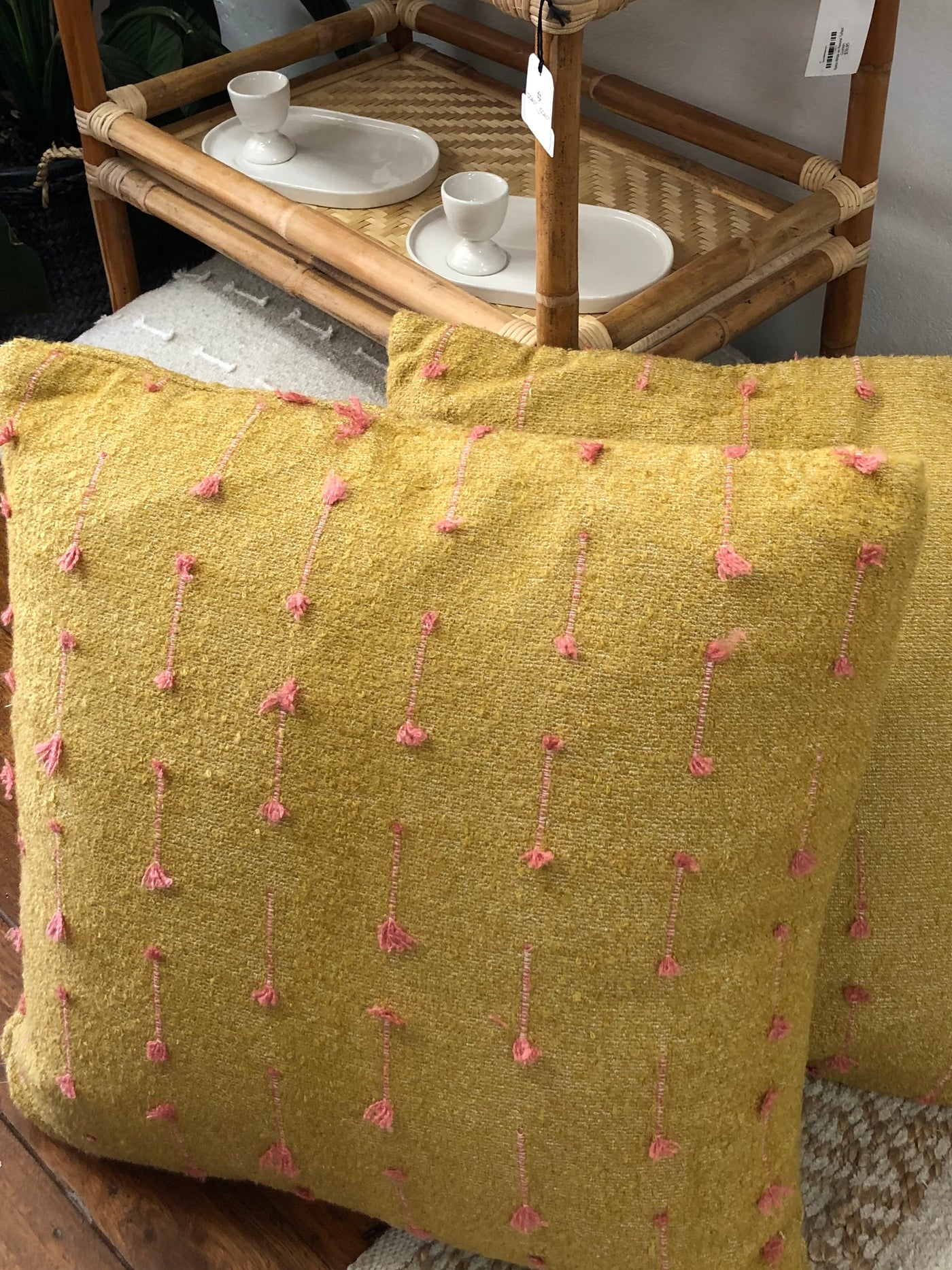 Embellished Cushion Pickle-60cm