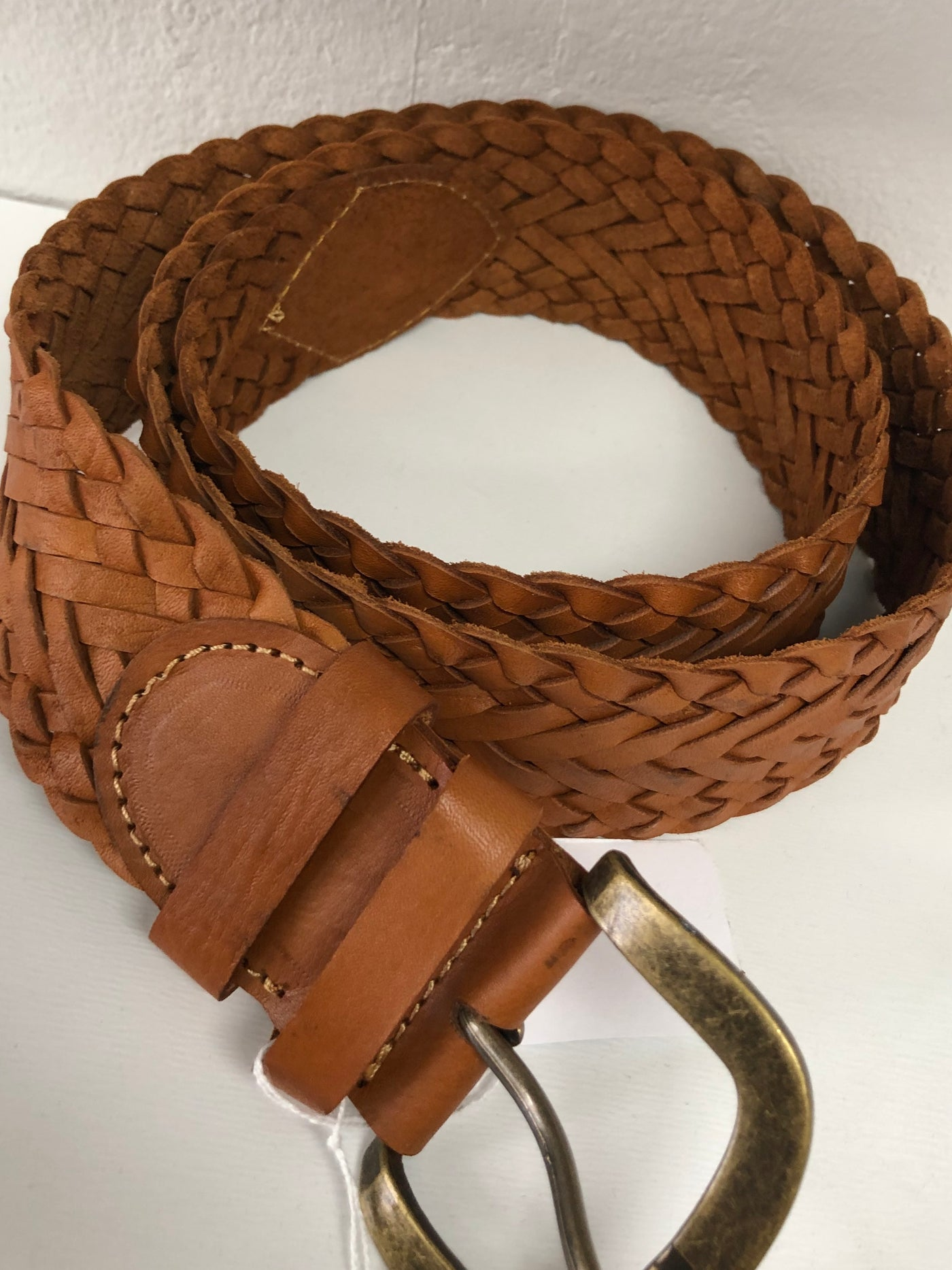 Legian Plaited leather Belt-Tan