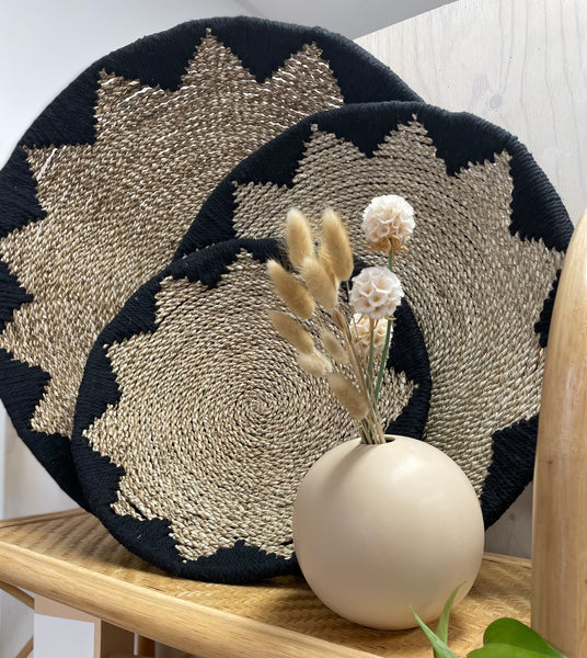 Kirana Natural and Black Wall Tray Small