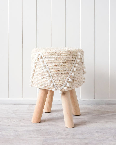 Viola Natural & White Stool