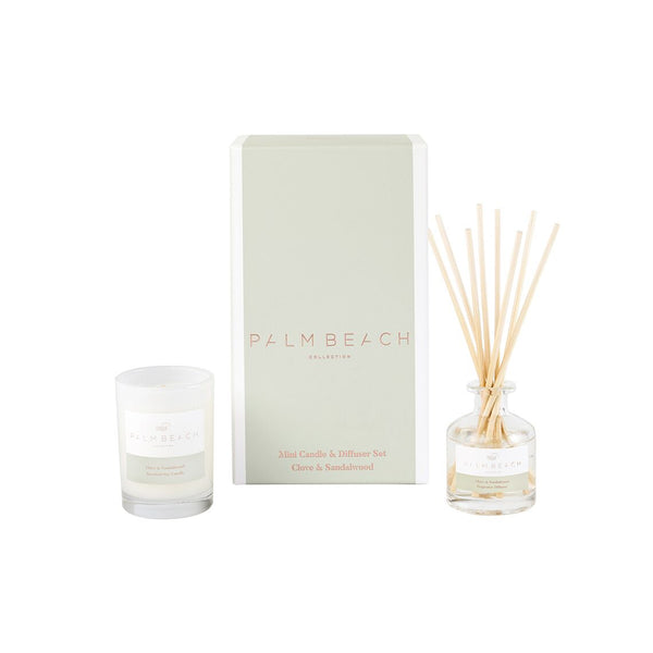 Clove and Sandalwood Mini Candle and Diffuser Set