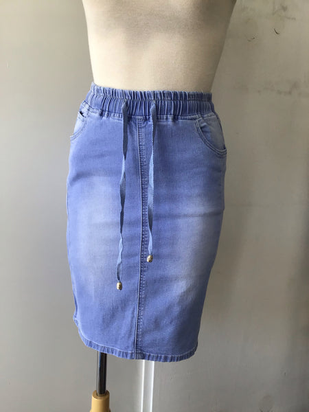 Ava Denim Skirt-Light
