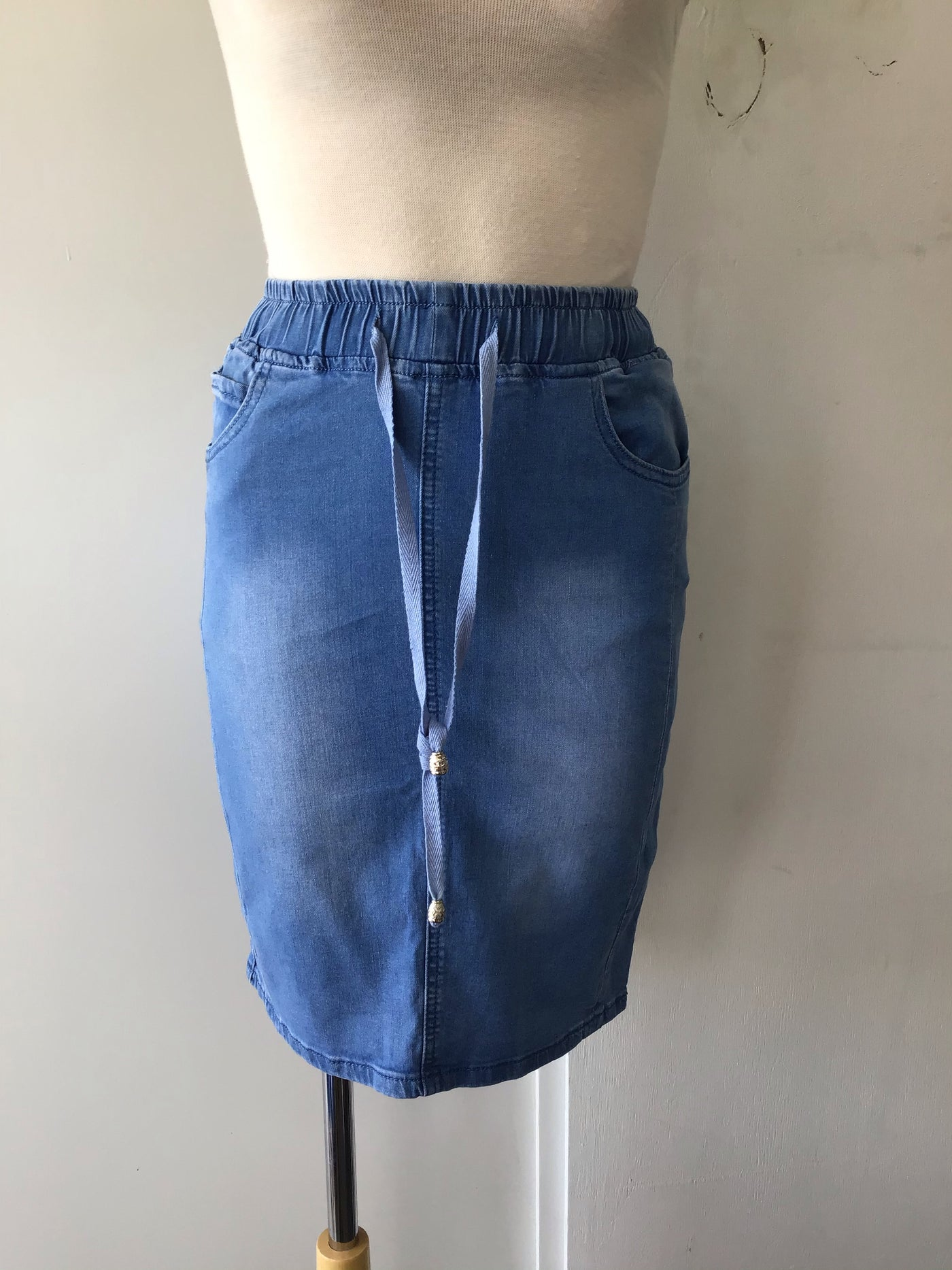 Ava Denim Skirt-Mid Blue