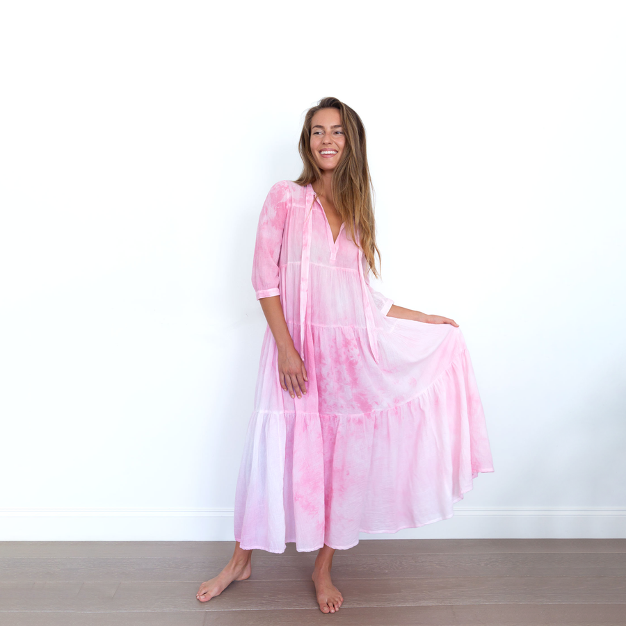 Tie-Dye Long Giselle Dress