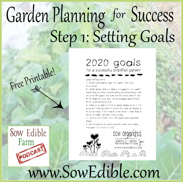 Garden Planning for Success Part 1: Goal Planning
