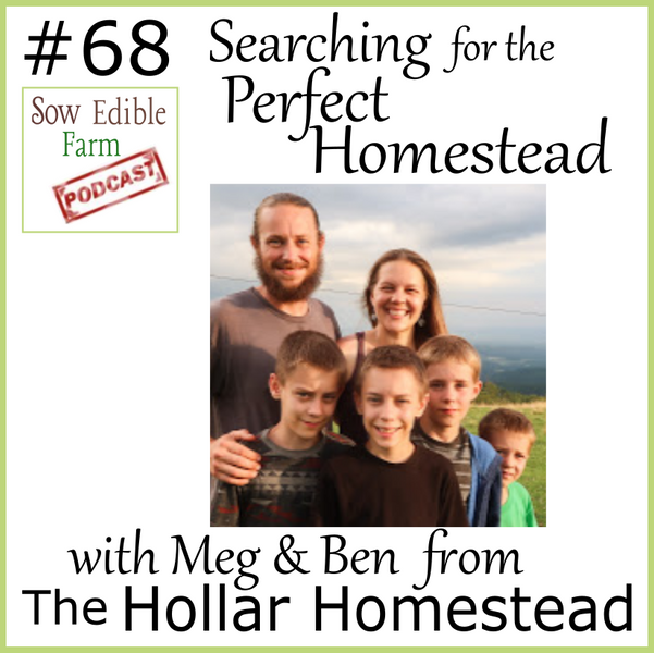 SEp 068: Searching for the Perfect Homestead with Meg & Ben from The Hollar Homestead