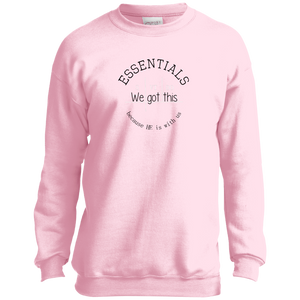 We got this essentials P+C Youth Crewneck
