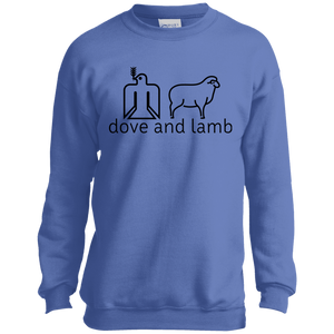 dove and lamb P+C Youth Crewneck