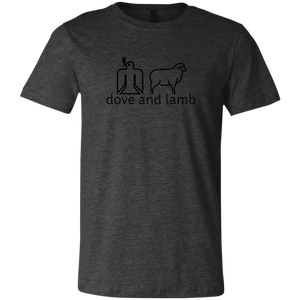 dove and lamb black logo 3001C Bella + Canvas Unisex Jersey Short-Sleeve T-Shirt