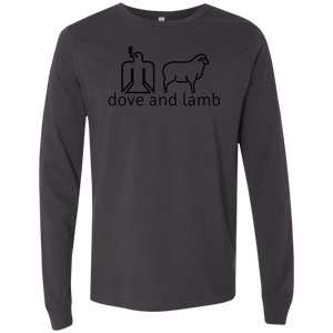dove and lamb black logo 3501 Bella + Canvas Men's Jersey LS T-Shirt