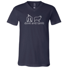 d+l Soft Mens V-neck T-Shirt