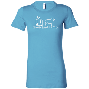 dove and lamb white logo Bella + Canvas Ladies' Favorite T-Shirt