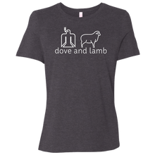 dove and lamb white logo Bella + Canvas Ladies' Relaxed Jersey T-Shirt