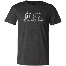 dove and lamb white logo Bella + Canvas Youth Jersey T-Shirt