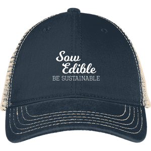 se be sustainable white DT630 District Mesh Back Cap