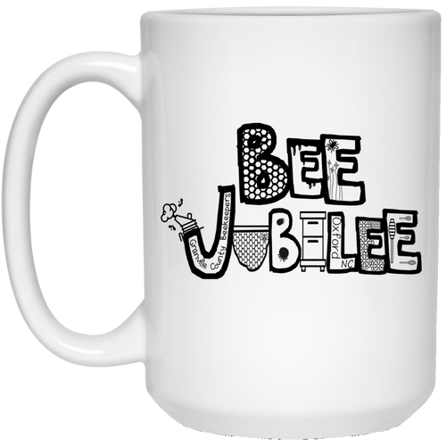 BEE JUBILEE FINAL DESIGN 21504 15 oz. White Mug