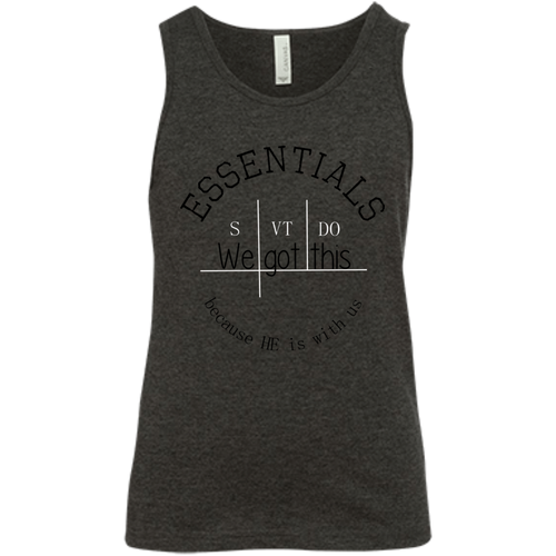 We got this essentials 3480Y Bella + Canvas Youth Jersey Tank