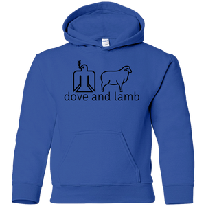 dove and lamb Gildan Youth Hoodie