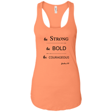 BE BOLD Ladies Racerback Tank