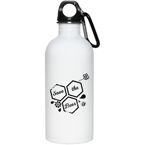 save bees 20 oz. Stainless Steel Water Bottle