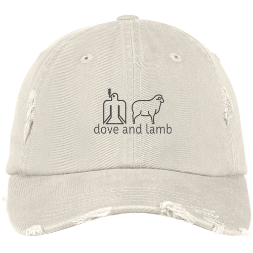d+l Distressed Dad Cap