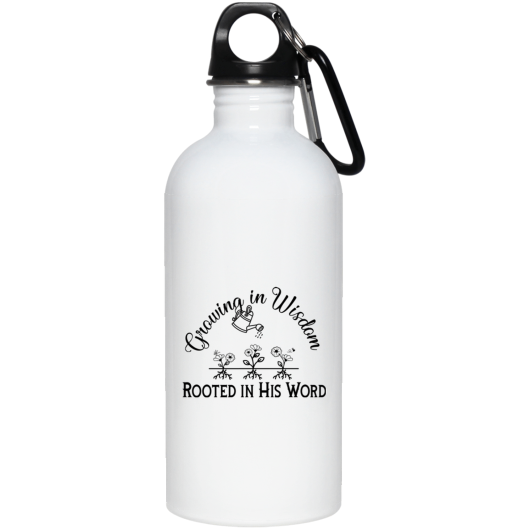 grow wisdom 20 oz. Stainless Steel Water Bottle