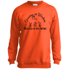 grow wisdom P+C Youth Crewneck