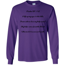 Psalm121.12 Gildan Youth LS T-Shirt