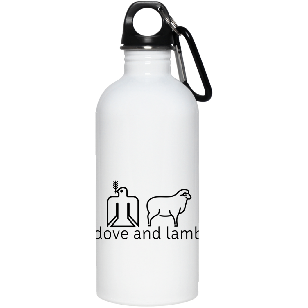 dove and lamb 20 oz. Stainless Steel Water Bottle